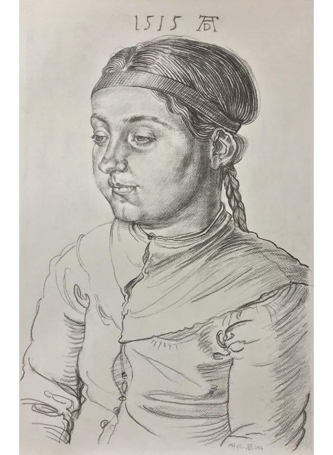 Porträt eines Mädchens nach Albrecht Durrer 1515 - 77