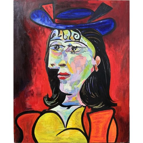 Mike Holcroft Portret van een jong meisje naar Picasso 74