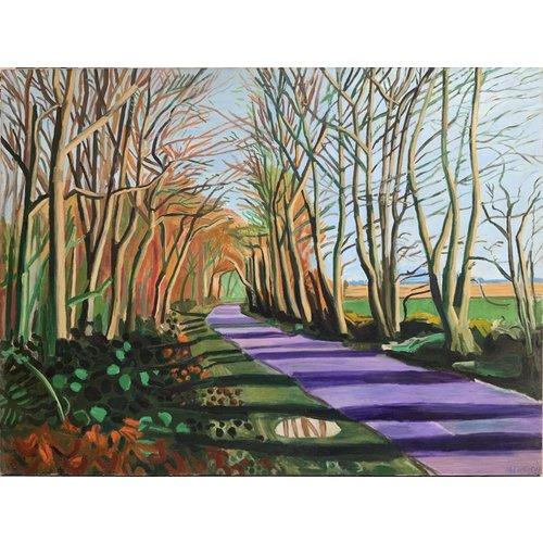Mike Holcroft Woldgate, Crisp Morning, Januar nach Hockney 75