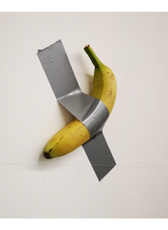Banana duct taped to a wall  after Maurizio Cattekan Ed. 10. - 95