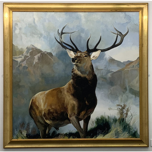 Mike Holcroft Monarch of The Glen after Sir Edwin Landseer 89