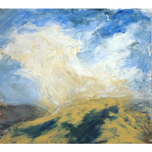 Liz Salter Uncertain Clouds-   mixed media 045