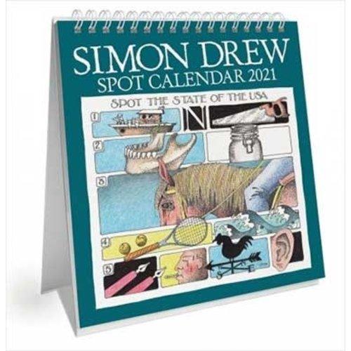 Simon Drew Designs Desk Standing Spot Calendar 2021