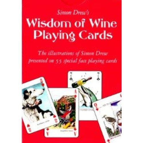 Simon Drew Designs Wisdom of Wine special face Playing Card Pack