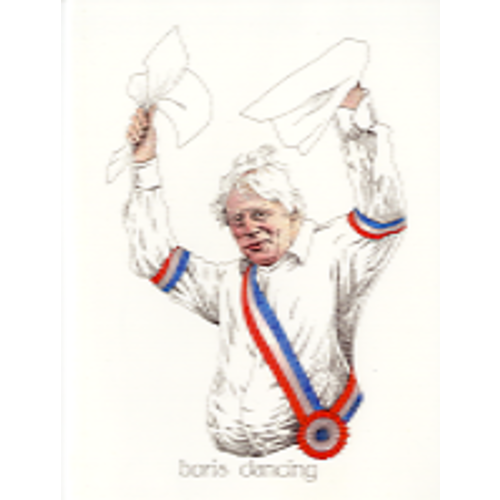 Simon Drew Designs Boris Dancingcard 817