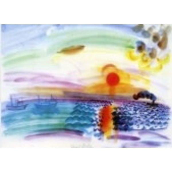 Sunset Card door Dufy