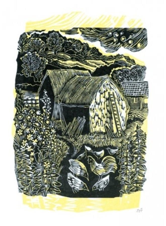 Hayricks and Hens von John O Connor 140x 180mm Karte