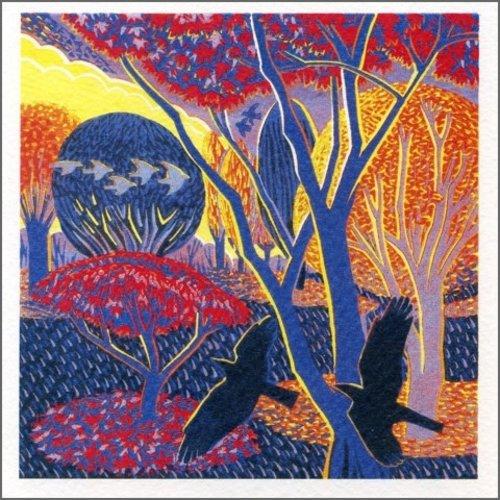 Artists Cards Autumn Park by Annie Sudan 140x140mm card