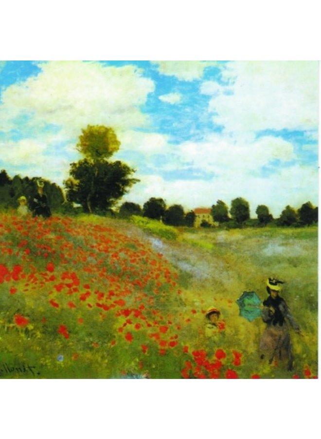 Poppy Field von Monet 140x140mm Karte