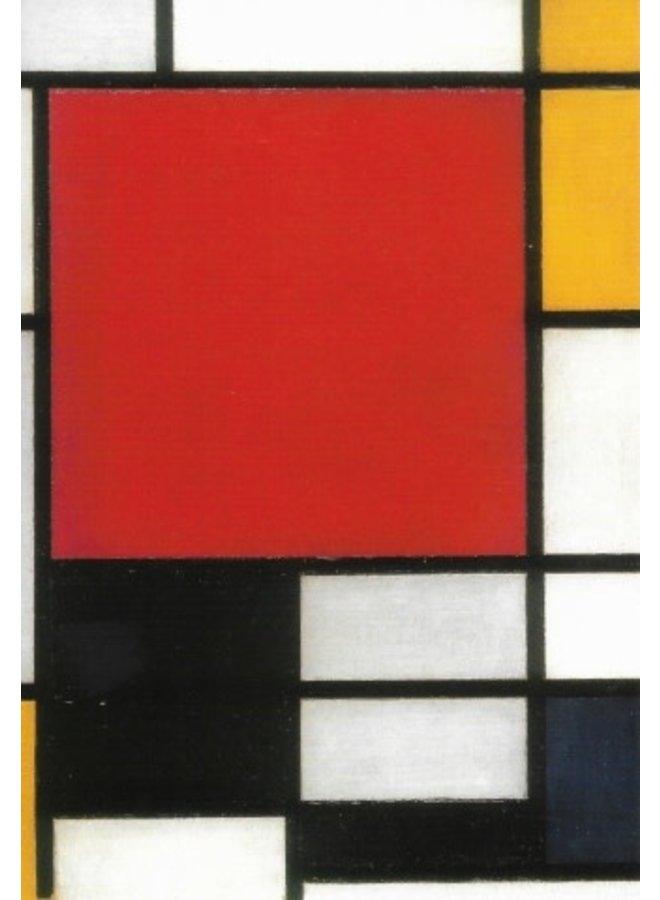 Zusammensetzung mit roter, gelber, blauer und schwarzer Karte