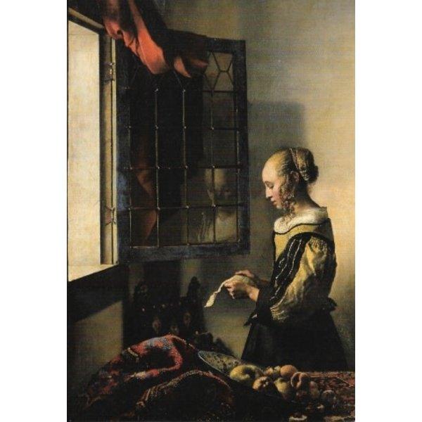 Brieflezend meisje van Vermeer Kaart 140x 180mm