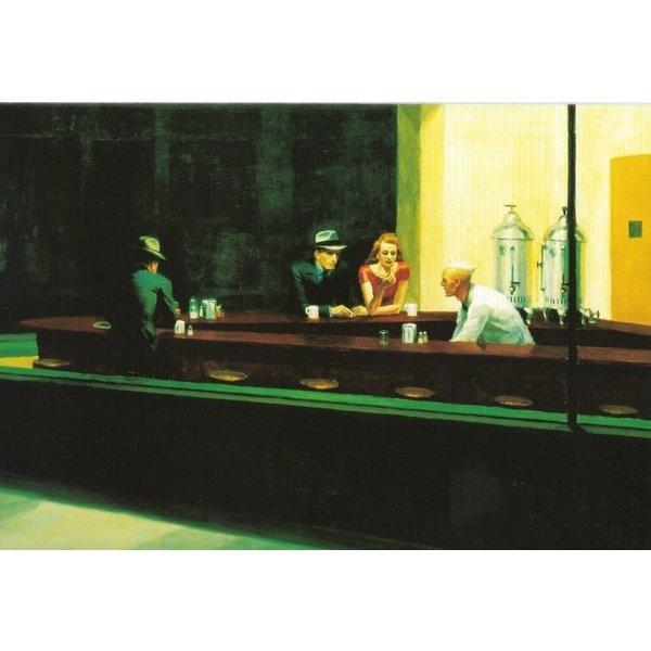 Nighthawks van Hopper 180 x 140 cm