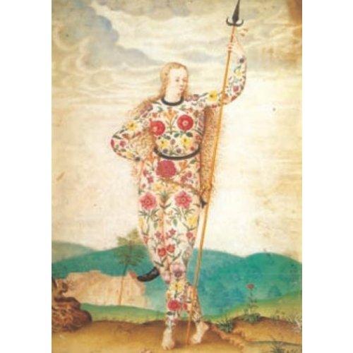Artists Cards Een jonge dochter van de Picten door Jacques le Moyne 140 x 180 mm kaart
