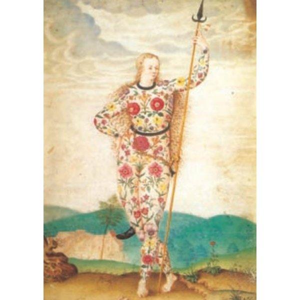 Een jonge dochter van de Picten door Jacques le Moyne 140 x 180 mm kaart