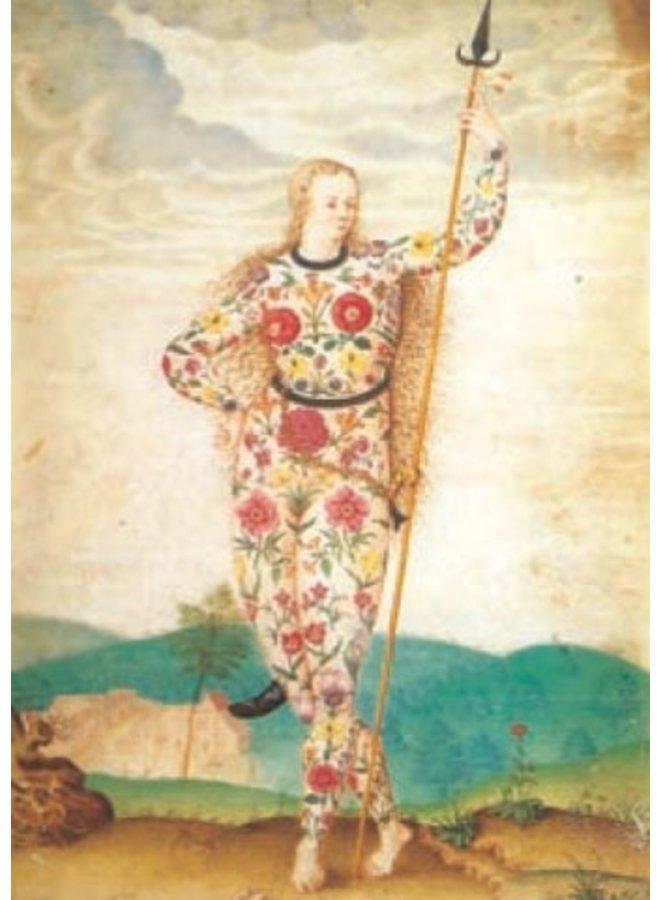 Eine junge Tochter der Picten von Jacques le Moyne 140 x 180 mm Karte