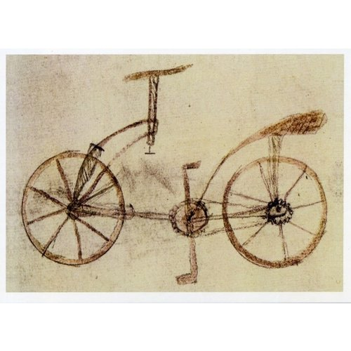 Artists Cards Bicycle Design 1493 by Da Vinci 180 x 140mm card