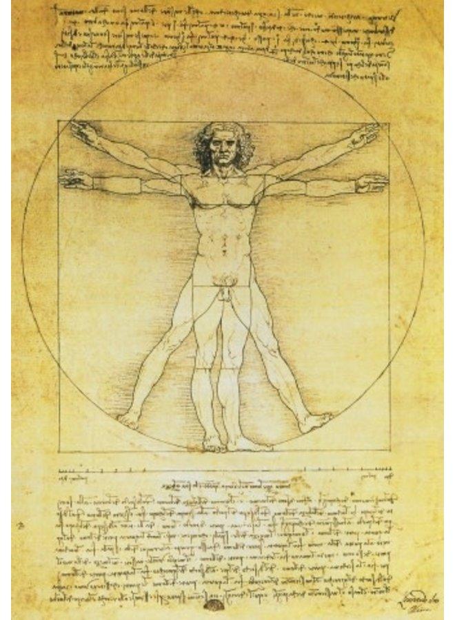 Vitruvian Man by de Vinci140x140mm card