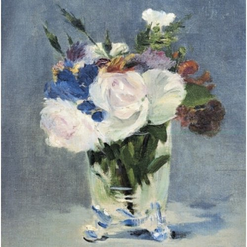 Artists Cards Flowers in Crystal Glass by Manet 140x140mm card