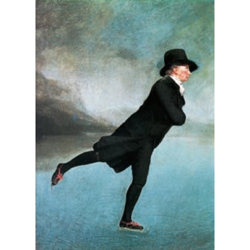 Artists Cards Die Rev. Robert Walker Skating von Henry Raeburn 140x 180mm Karte