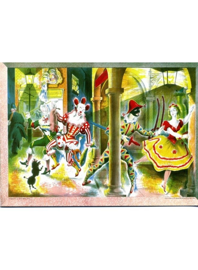 Harlequinade  by Clarke Hutton  180x 140mm card