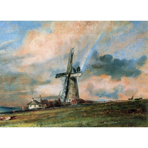 Artists Cards Windmill Among Houses by Constable 180x 140mm card