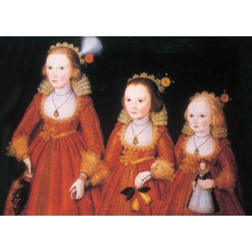 Artists Cards Drie jonge meisjes door Robert Peake 180x 140 mm kaart