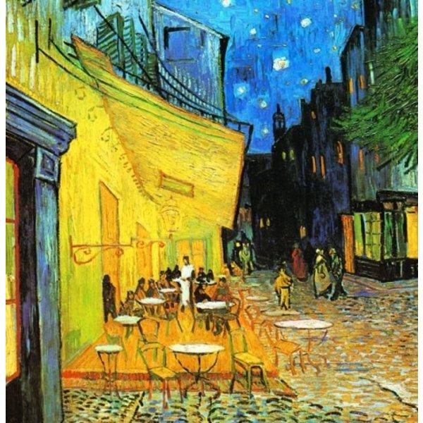 Buitencafé van Van Gogh 140 x 140 cm
