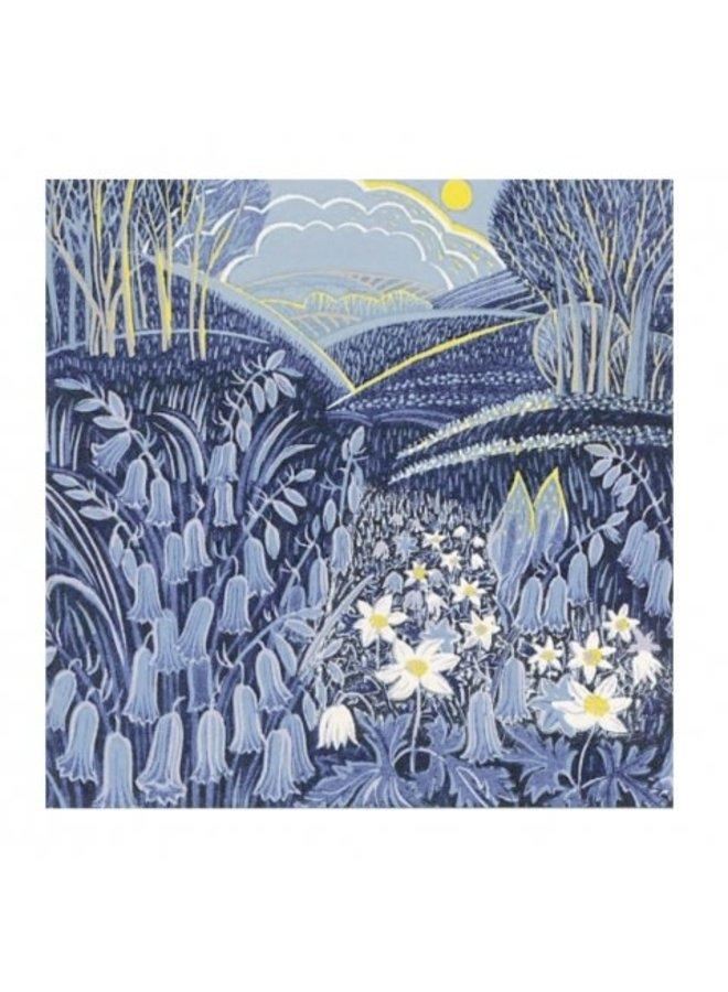 Wayside Flowers von Annie Sudan 140x140mm Karte
