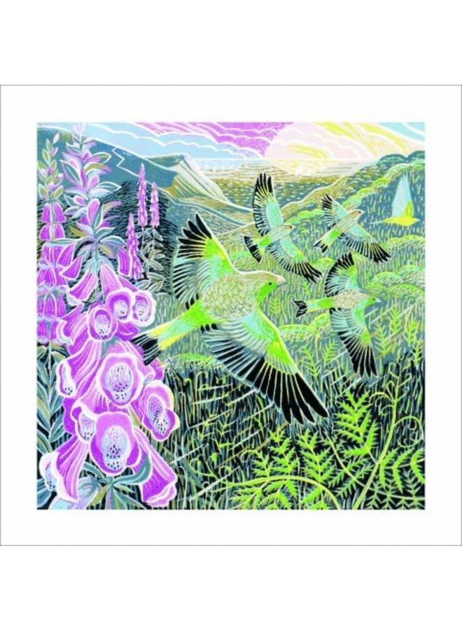 Fingerhüte & Finken von Annie Soudain 140 x 140 mm Karte