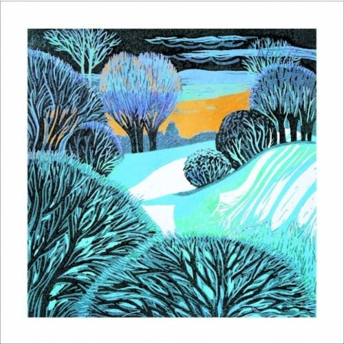 Artists Cards Frosty Morning  by Annie Soudain 140x140mm card