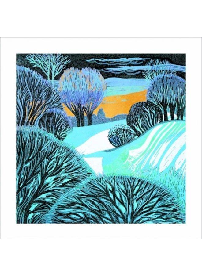 Frosty Morning von Annie Soudain 140x140mm Karte