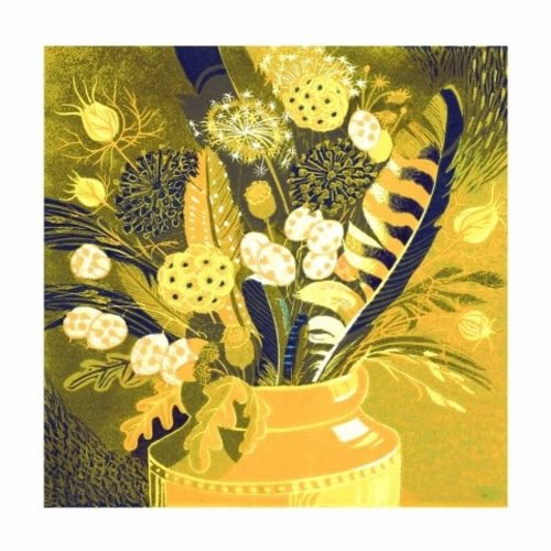 Artists Cards Autumn Finds by Annie Soudain 140x140mm card