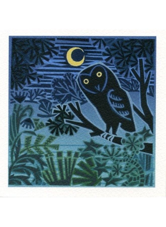 Nachteule von Jenny Tilden-Wright 140x140mm Karte