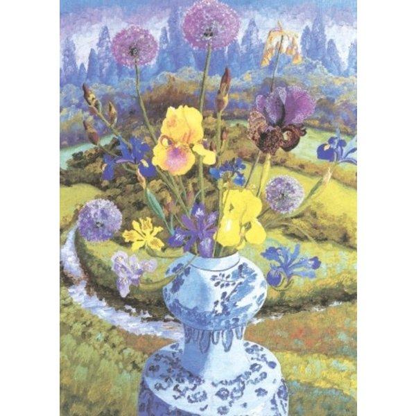 Iris Heralding door Cedric Morris 140x 180mm kaart