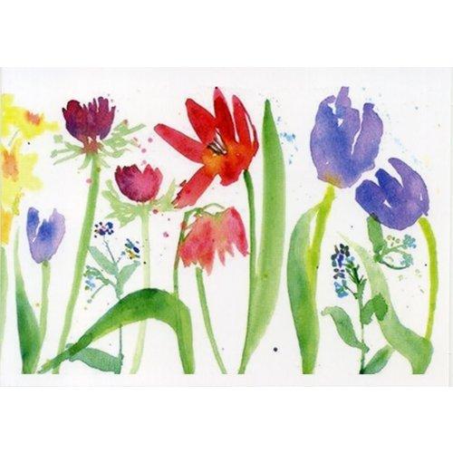 Artists Cards Spring Boarder door Helen Clarke 180x 140 mm kaart