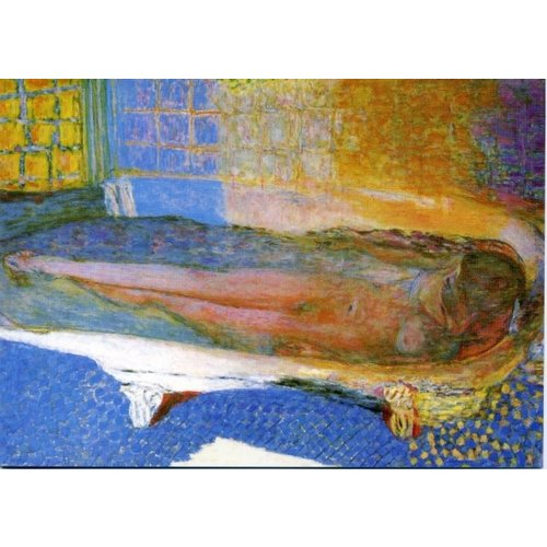 Artists Cards Naakt in het bad door Bonnard 180x 140 mm kaart