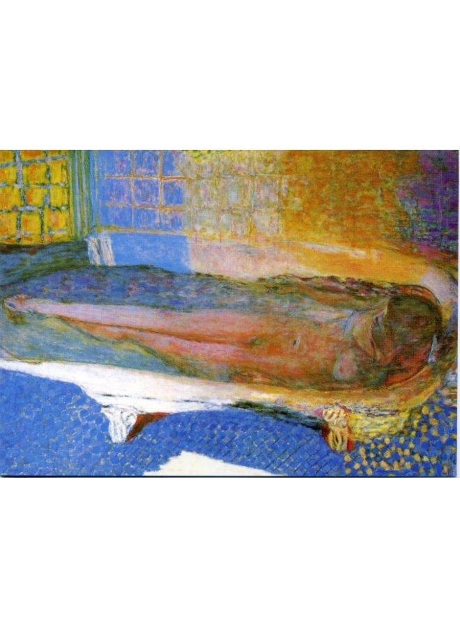 Nude in the Bath von Bonnard 180x 140mm Karte