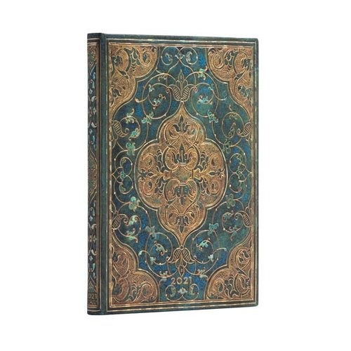Paper Blanks 2021 Turquoise Chronicles wekelijks midi-dagboek