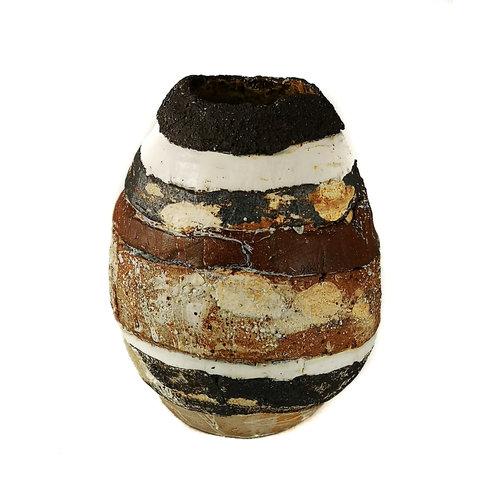 Sue Turner Abstract landschap met zwarte rand 7-09