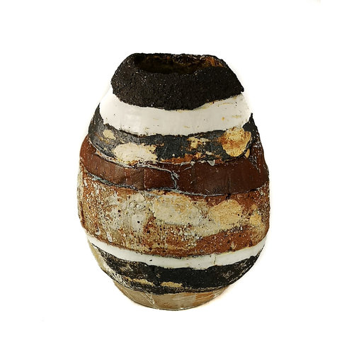 Sue Turner Abstrakt landskap med svart kant 7- 09