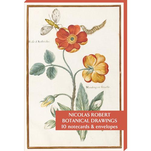 Fitzwilliam Museum Botaniska teckningar av Nicolas Robert 10 Notecard Pack