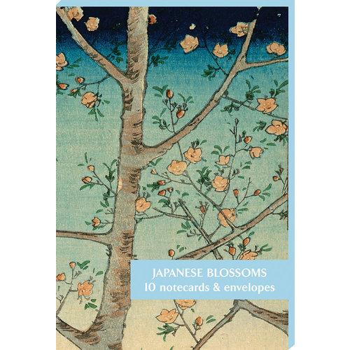 Fitzwilliam Museum Pack de 10 cartes de notes de fleurs japonaises