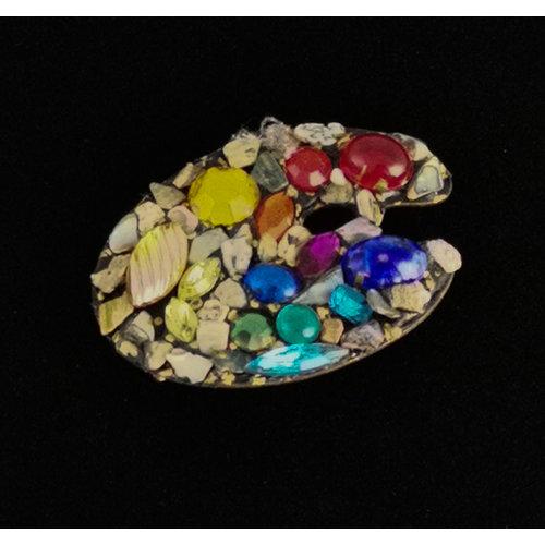 Annie Sherburne Artist Palette Brooch 209