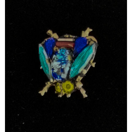 Annie Sherburne Bee Blue wing small   Brooch 218