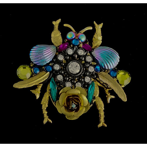 Annie Sherburne Bee Large Brooch with shell wings  202
