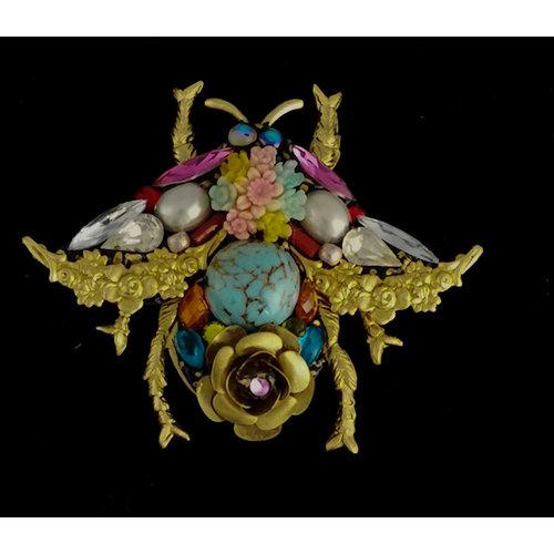 Annie Sherburne Bee Large Brosche mit Türkis 201