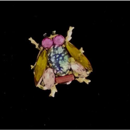 Annie Sherburne Bee orange wing small   Brooch 217