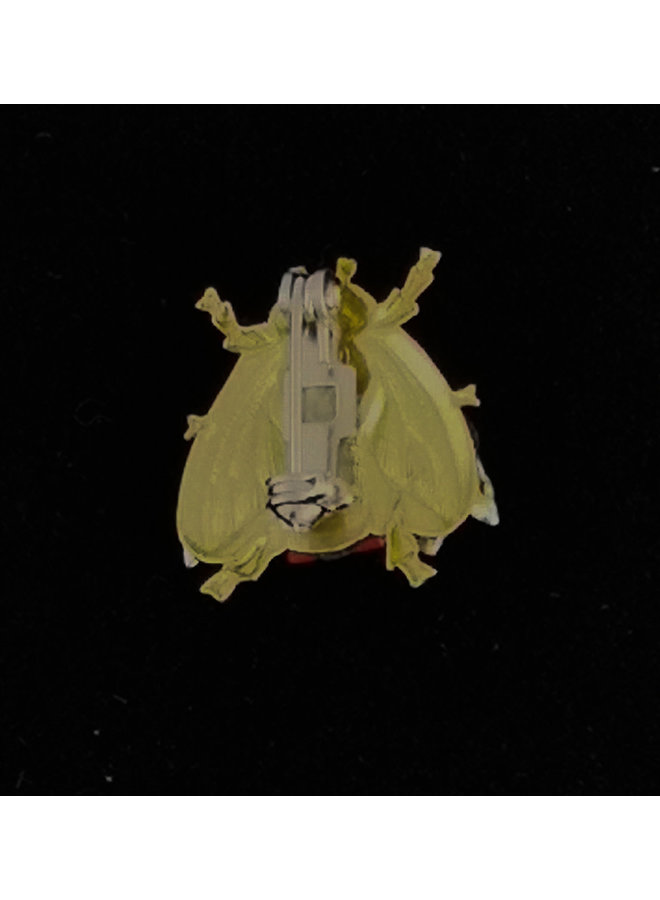 Bienenorangenflügel kleine Brosche 217
