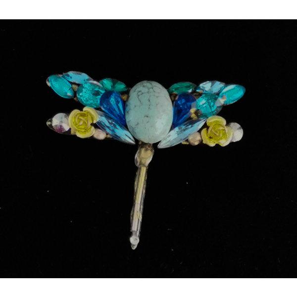 Blue Dragonfly Brooch 207