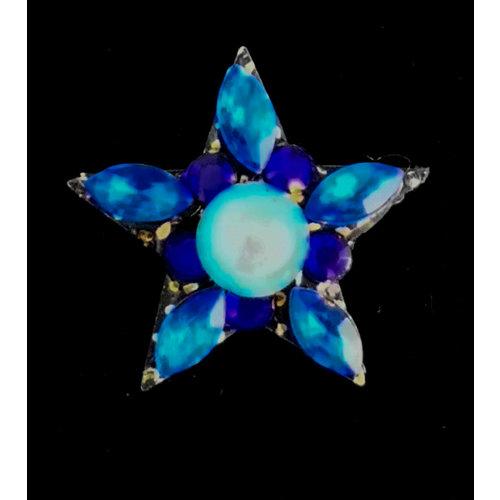 Annie Sherburne Blue star  Brooch 219